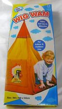 NEW KIDS WIG WAM TEEPEE PLAY TENT EASY SET UP GARDEN 100x135cm PADG