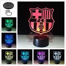 FC Barcelona club Logo 3D illusion Night Light 7 Color LED Desk Table Lamp