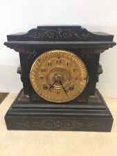 Antique Ansonia Clock Co Victorian Style Mantel Clock Late 1800's
