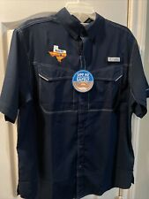 Columbia Houston Astros Low Drag Offshore Ss Shirt Size Small. Navy Blue Nwt.
