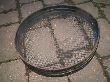 Vintage English 1930's metal garden sieve.