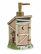 "Soap Lotion Dispenser Liquid Outhouse Rustic Bathroom Decor Brown 4x8"" Gift New"
