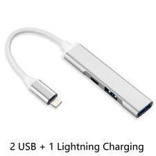 Dual USB Camera Adapter,3 in 1 Lightning Hub Support MIDI Keyboard,Mouse,U Disk