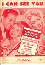 "Rich Young & Pretty Sheet Music ""I Can See You"" Jane Powell Vic Damone"