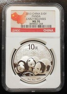 2013 CHINA PANDA ~ NGC MS70 ~ EARLY RELEASES ~ FREE SHIPPING