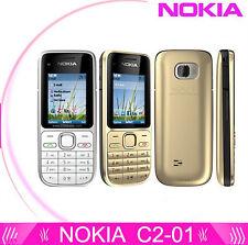 Nokia C Series C2-01 Black&Gold (Unlocked) Cellular Phone,3.2MP,Classic bar