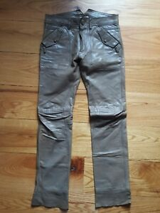Diesel Men's or Women's leather Pants. Size 26..fits like size 28 or 29