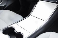 Tesla Modell 3 Zentrum Konsole Grafiken Set 3M Vinyl Aufkleber Wrap - Matt Weiß