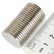 40pcs 10 mm x 1 mm Forti Terre rare neodimio a disco sottile ROTONDO MAGNETI di grado N35