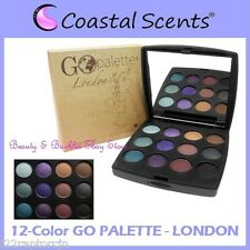 NEW Coastal Scents 12-Color GO PALETTE LONDON Eye Shadow Compact FREE SHIPPING
