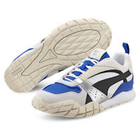 PUMA Kyron Awakening Womens Nylon Suede Shoes Sneakers, White Blue Black, Size 8