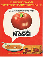 PUBLICITE ADVERTISING  1962   MAGGI    soupe tomate vermicelle