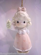 Precious Moments Ornament Girl w/Mistletoe 150126 Nib Free Usa Shipping