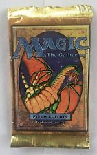 1 5th Edition Fifth Sealed Booster Pack Mtg Magic English Fresh from Box