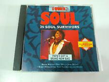 25 soul Survivors James Brown Joe Tex  Brook Benton Bobby Womack CD