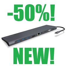 (-50%!) Station d'accueil USB 3.0 Type C (HDMI/Mini DP/VGA/GbE/3x USB 3.0/Jack 3