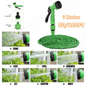 50-100FT Expandable Flexible Multi-function Garden Water Pipe Hose Spray Nozzle