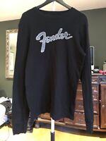Fender Shirt Probably XL Black Long Sleeves