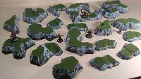 Wargaming Terrain - Large Box Set of Hills Grass Finish