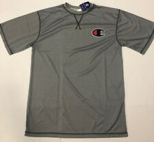 "Mens Champion Big & Tall Shirt Sz Lt Large Big ""C� Logo Embroidered New Gray S/S"