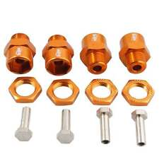 RC HSP Gold Alum Wheel Hex Combine 12mm Turn 17mm Drive 4PC For 1/10 Buggy Truck