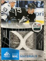 2019-20 SP GAME USED SIDNEY CROSBY ALL STAR MATERIALS NET CORD /35 PENGUINS SP