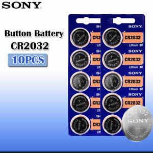 10pcs SONY Original cr2032 Button Cell Batteries CR 2032
