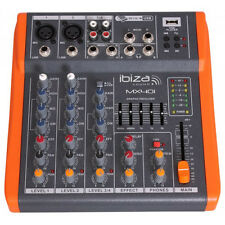 IBIZA SUONO MX401 USB MIXER AUDIO BLOCCO NOTE Band PA SYSTEM STUDIO