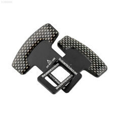 3B25 New 2pcs Car Vehicle Truck Carbon Fiber Safty Seat Belt Buckle Canceler Bla