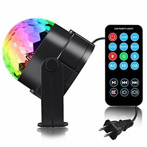 Party Strobe Disco Ball Light DJ  LED Bright Lighting COLOR with Remote 3 Modes