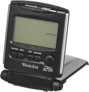 Westclox Digital Quartz Snooze Folding Travel Alarm Clock 72028