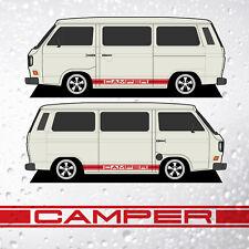 CAMPER tripleside Strisce-per adattarsi VW T25 TRANSPORTER T3 - 29 colori disponibili