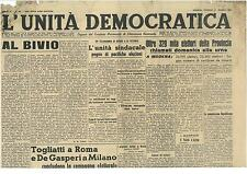 L'UNITA' DEMOCRATICA 31 MAGGIO 1946