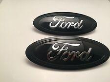 2015-2016-2017 Black & CHROME logo Ford F-150 Emblem SET (Grill & Tailgate set!
