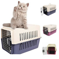 Cat Dog Carrier Cage Pet Travel Crate Kennel Rabbit Puppy Transporter Basket Box