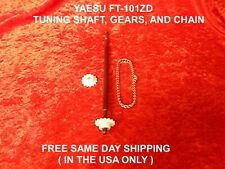YAESU FT-101ZD  2 EACH TUNING GEARS, SHAFT AND CHAIN  FREE SAME DAY SHIPPING
