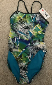 Womens TYR Durafast Swimsuit Size 38