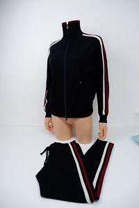 Isabel Marant Black Tracksuit Jacket & Bottom Size 36 Uk 8 Gc Women's Slim Fit