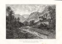 Antique Print-REPHIDIM-SINAI PENINSULA-EGYPT-Reclus-Slom-1884