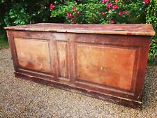 Antique French bakers shop counter vintage kitchen island sideboard
