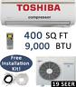 19 SEER: 9000 BTU Ductless Air Conditioner Heat Pump Mini Split w/ install KIT