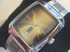 BEAUTIFUL 70'S SS RODANIA AUTOMATIC DAY DATE AT 6 - NEAR MINT CONDITION    *6344