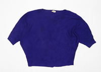 Phase Eight Womens Size M Batwing Blue Jumper (Regular)