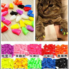 20Pcs 3Size Simple Soft Rubber Pet Dog Cat Paw Claw Control Nail Caps Cover
