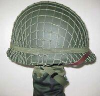 Steel M1 Helmet WW2 Military Green WWII US With Webbing Net Replica M1942