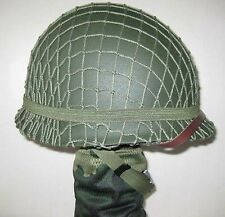 WWII US Army M1 Green Helmet Replica with Net/ Canvas chin strap Reproduction
