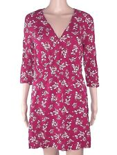 divide h&m abito dress corto donna rosso bordeaux floreale ruota eur 38 it 42