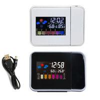 LCD Digital Wecker mit Projektion  Datum Temperaturanzeige Alarm Uhr Haus