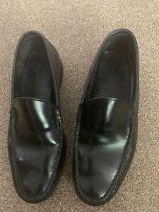 ALLEN EDMONDS UK9 Black All Leather Slip On Loafers Vgc
