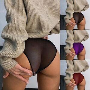 Women Sheer Panties Thong Ultra-thin Mesh Underwear Lingerie Knicker See-through